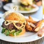 deliciosa hamburguesa de cerdo
